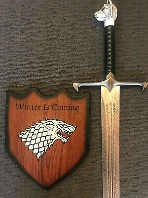 GAME OF THRONES - LONGCLAW (BOOK), THE SWORD OF JON SNOW (with FREE WALL PLAQUE)