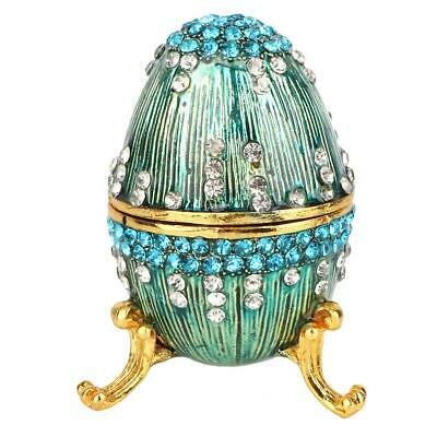 Vintage Easter Egg Trinket Box Jewellery Candy Storage Case Gift Box Decorations