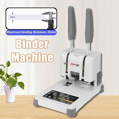 Manual Book Paper Sheet Hole Electric Hot Binding Machine Punching Binder Spiral