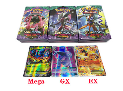 60/100 carte Pokemon 40EX+20mega/60GX  Inglese Flash Cards Regalo Nuovo