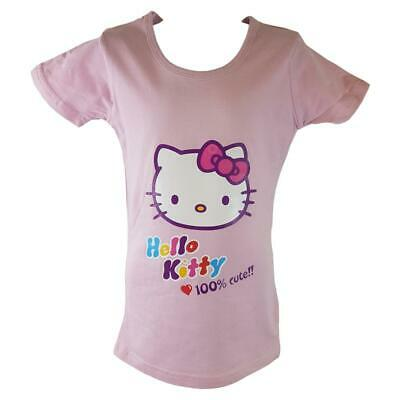Girls Hello Kitty Short Sleeve T-shirt Top  Age 4 5 6 7 8 years Gift Cotton Soft