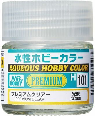 Mr. Hobby Gunze Aqueous Color H101 Premium Clear Gloss (10ml) For Model Kit New