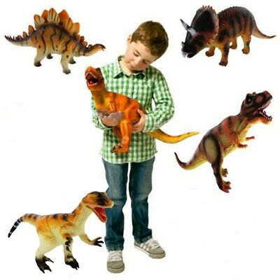 Kids Toy Dinosaur Large Rubber Play Figures Children Stuffed Action Figure Gift