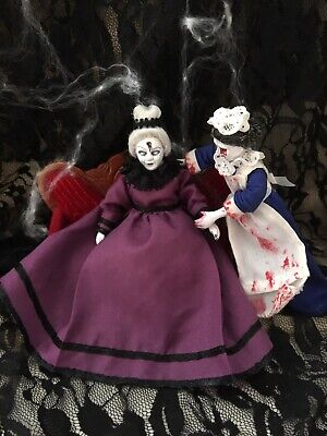 Doll house Furniture Accessary witch Horror Maid And Mistress Zombie Horror