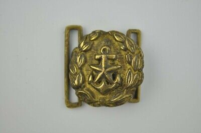 Vintage Brass Ship Anchor Belt Buckle Nautical Maritime Marine