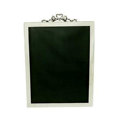 """Large Antique Sterling Silver Bow/Ribbon 9 1/2"""" Photo Frame - 1911"""