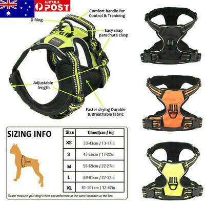 3M No-pull Dog Pet Harness Reflective Outdoor Safety Vest Jacket Padded Handle