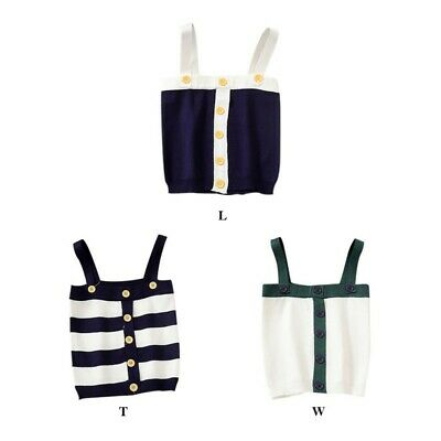 Women Summer  Fit Striped Pattern Sexy Slim Camisoles Button Dot  Tops