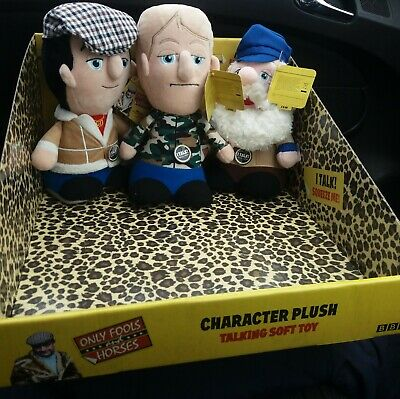 Aldi Only Fools and Horses Talking Plush Del Rodney Albert Set of 3+ display box