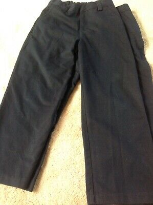 Boys' Navy tailored trousers, age 9 years by Next, 2 pairs, New!