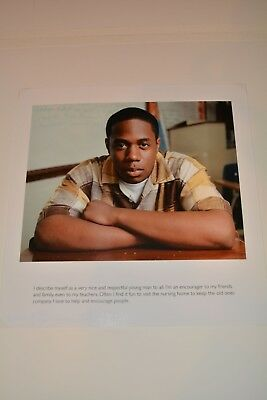 Dawoud Bey Photograph African American Artist Signed Original 12 X11 1/2