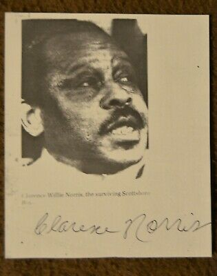 Fantastic!!!! Scottsboro Boy Clarence Norris Autograph On Paper African American