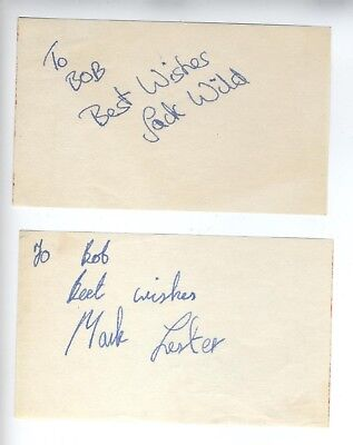 Jack Wild & Mark Lester Oliver! Signed Child Actor Autographs Very Young Rare!!!
