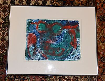 "E.j. Montgomery  African American Artist   Acrylic On Paper 9""  X 12"" Framed"
