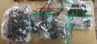 Large Lot 60 pc Switches Electrician Rocker Push Button Vintage Steampunk