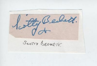 SCOTTY BECKETT SIGNED  AUTOGRAPH OUR GANG Little Rascals Hal Roach Child Actor