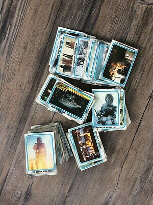 Hge lot of vintage blue border, Star Wars cards. 1980. Collectible!