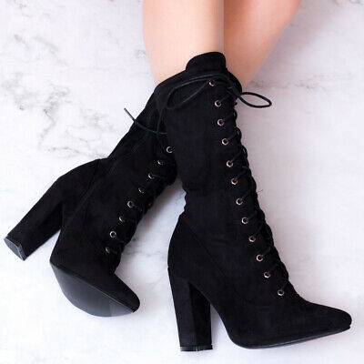 f9130753cdc SPYLOVEBUY ROCK IT Lace Up Block Heel Ankle Boots Shoes - $38.82 ...