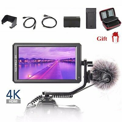 """Feelworld F6 Pro 5.7"""" IPS 4K HDMI On Camera Video Monitor for DSLR Stabilizer"""