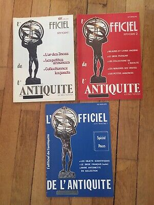 Magazine l'Officiel de l'Antiquité 3 volume de 1979