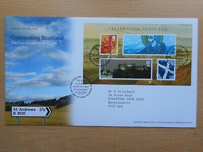 GB 2006 Celebrating Scotland mini sheet First Day Cover