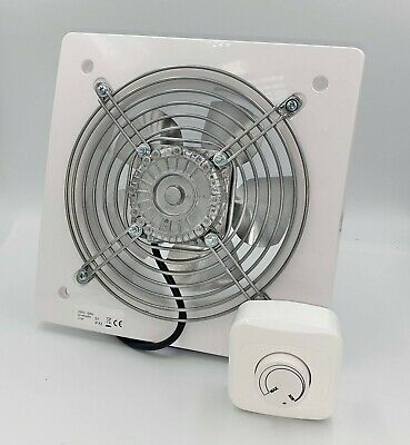 Silent Industrial Extractor Fan 200mm with 3.15A / 300W Speed Controller