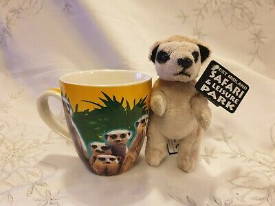 West Midlands Safari Park Small Soft Toy Meerkat & Mug Brand New Tags