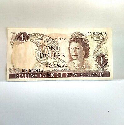 New Zealand 1 Dollar Banknote. 1968