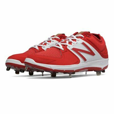 Baseball Metal Cleats New Balance Men's 3000v3 Low-Cut Red White sz 16