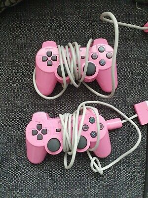 2x Pink Playstaion 2 Pads