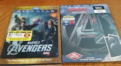The Avengers 1 and 2 3D Blu-ray Steelbook Best Buy Exclusive New