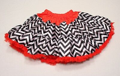 TuTu Chevron Chic By Tutu Couture With  Print And Red Tulle Skirt, Size XL