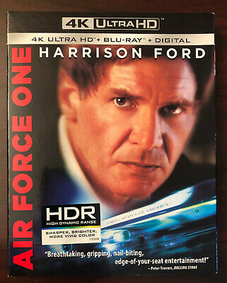 Air Force One 4K (4K Ultra HD/Blu-ray/Digital) with slipcover, NEW/sealed
