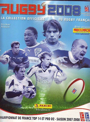 6 Images Stickers Panini Rugby 2008 Top 14 Pro D2 BON ETAT