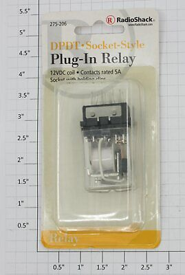 Radio Shack DPDT Plug-in Relay Brand New UK Part 275-206