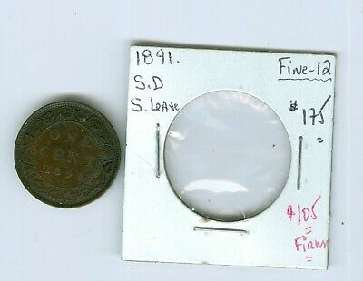 Canada-Coin: Large Cent 1891; SD-Small-Leave;-12.Cat:$175