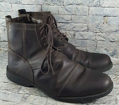 0f5b158f Timberland Earthkeepers Mens Brown Leather Side-Zip Front Laces Ankle Boots  10.5