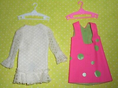 Vintage Barbie * SKIPPER * POPOVER #1943 * TLC DRESS & VINYL JUMPER