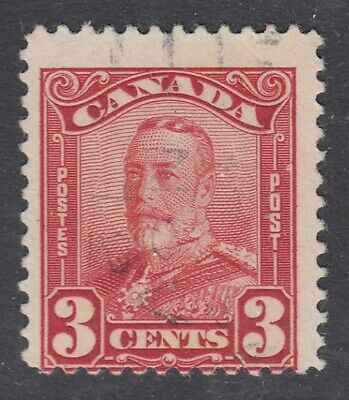 "Canada Scott #151  3 cent dark carmine ""Scroll""   F"