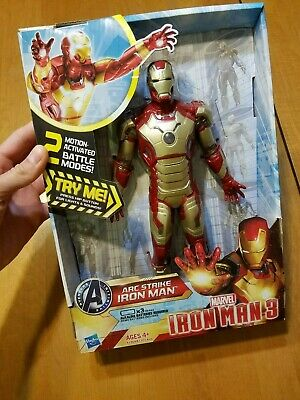 Marvel Ironman Iron Man 3 Arc Strike Hasbro Lights & Sounds WORKING NIP