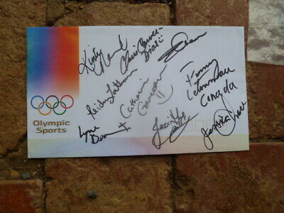 Canada Synchronised Swimming Medalist Team Signed Sydney 2000 Olympic Cover