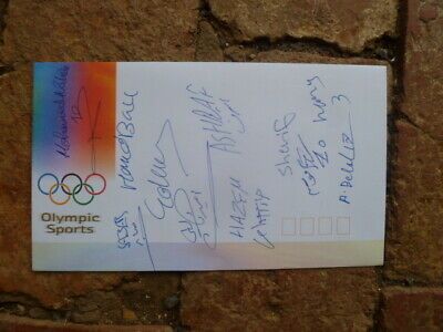Egypt Men's Handball Team Signed Sydney 2000 Olympic Cover 9 Signatures