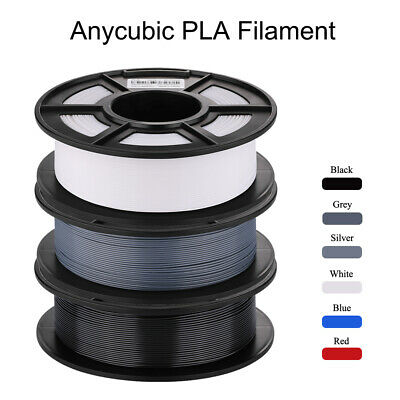 ANYCUBIC 3D Printer PLA Filament 1.75mm 1KG 20+ colors Spool Black AU Stock
