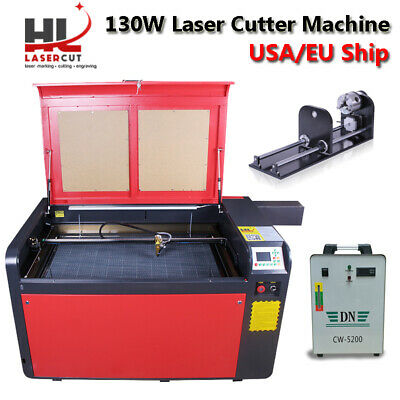 Reci 130W CO2 Laser Engraving Cutter Machine X/Y Linear Guides & CW-5200 Chiller
