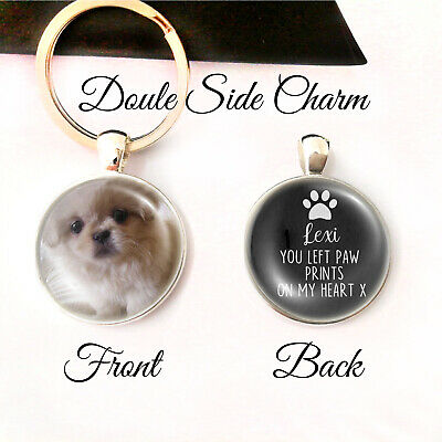 Personalised Double Sided Keyring Cats Dogs Pets Paw Memory Loss Be Loved Gifts