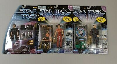 Lot Of Three Vintage Star Trek Action Figures Troi, Odo and Keeler