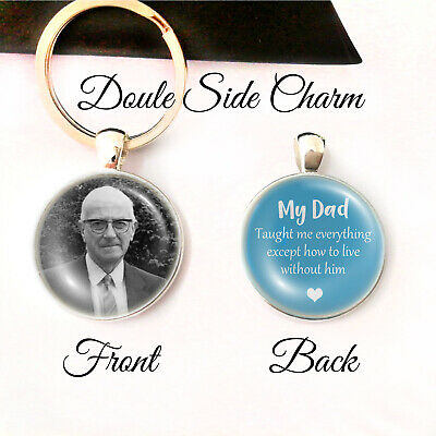 Personalised Double Side Keyring Memorial Loss Love Mum Dad Bereavement Gifts