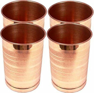 Pure Copper Glass for Drinking Water Tumbler Set Of 4 Copper Cup For Ayurvedic