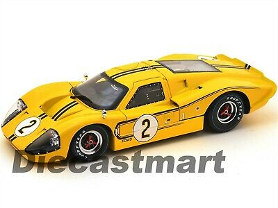 SC424 1967 Ford Gt Mk.iv Yellow 2 Lemans Donohue/Mclane 1:18 Shelby Collectibles