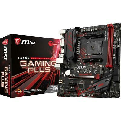 MSI B450M GAMING PLUS mATX AMD Socket AM4 Gaming Motherboard M.2 DDR4 USB 3 HDMI